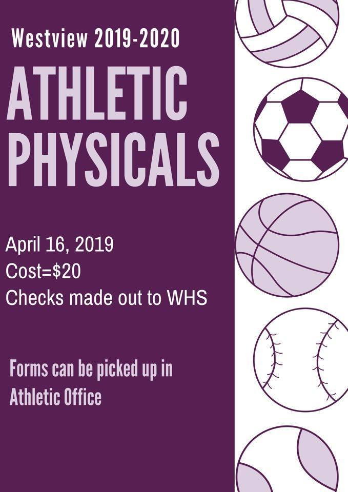 Athletic Physicals Offered at Westview