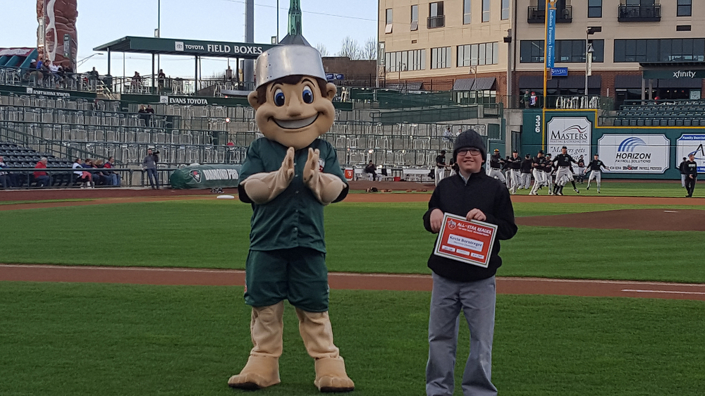 Kevin Borntreger, was selected to represent Westview as a TinCaps Reading Program All-Star Reader