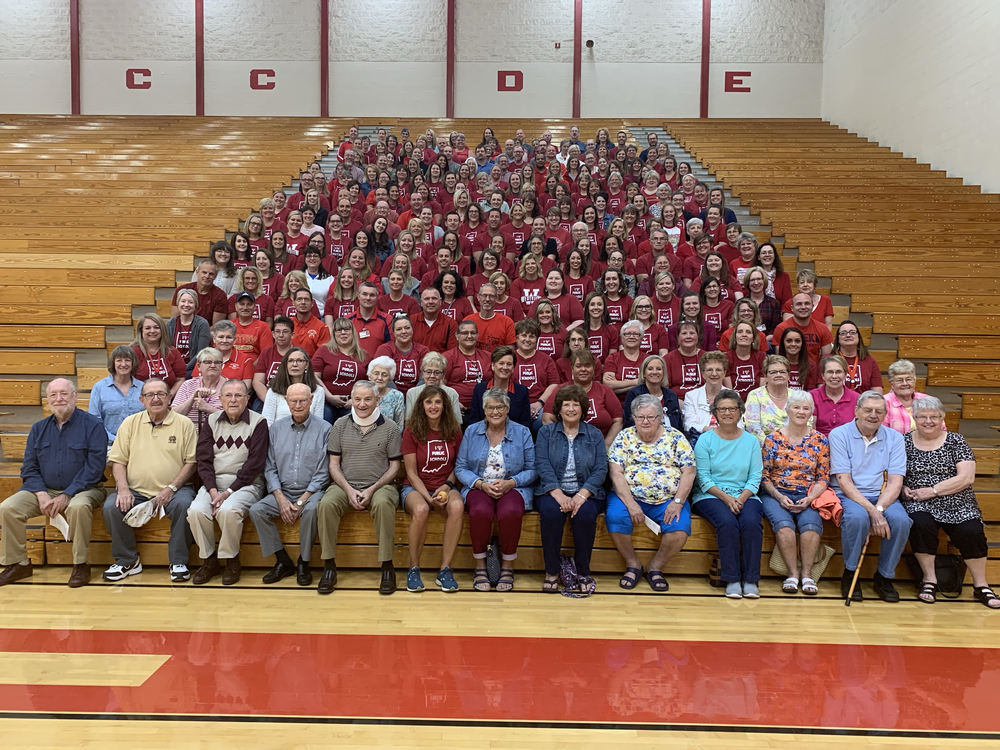 Staff Wears Red For Ed in Support of Public Education