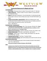 Community Meal plans