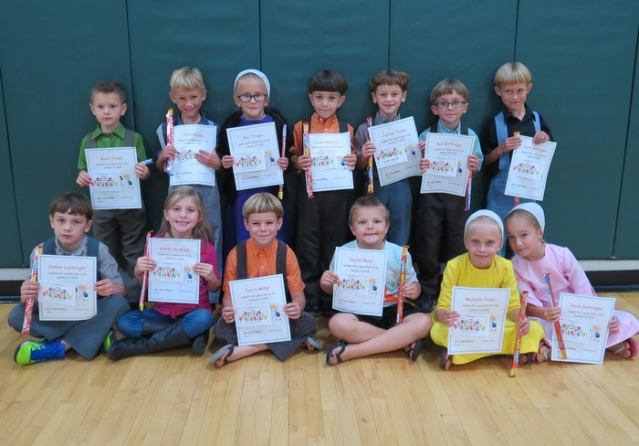 1st graders with highest summer reading minutes.