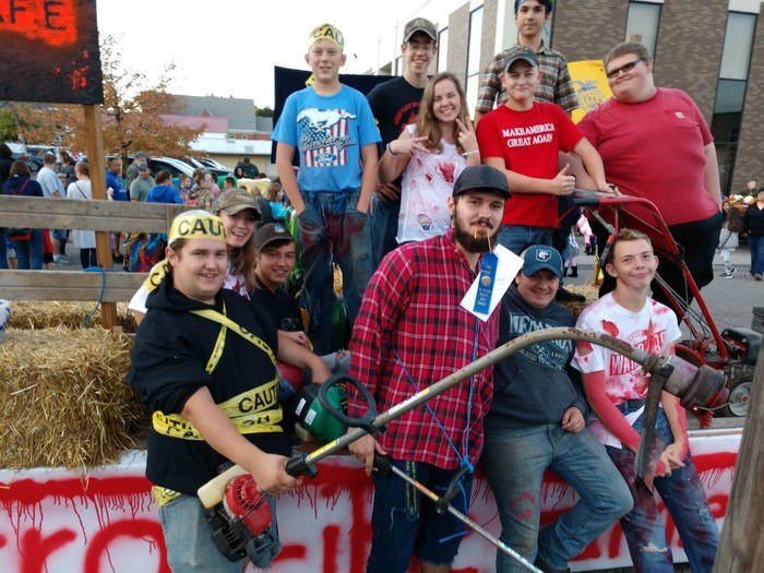 FFA Wins float contest at Corn School
