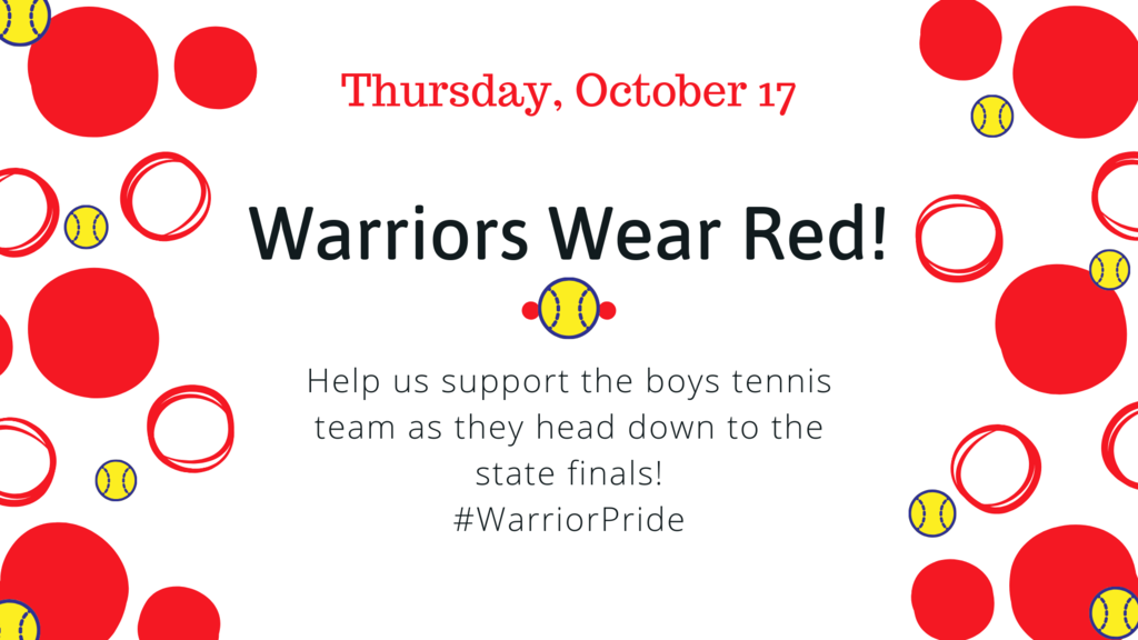 Wear Red and Support the Tennis Team