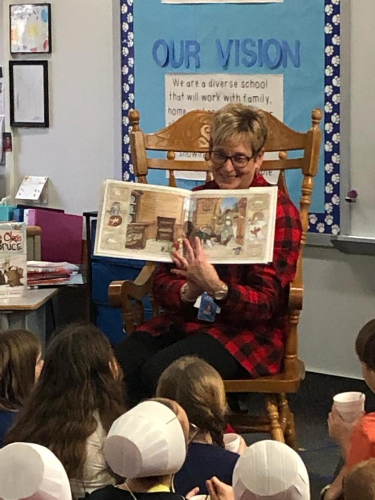 Mrs. Siegel reading