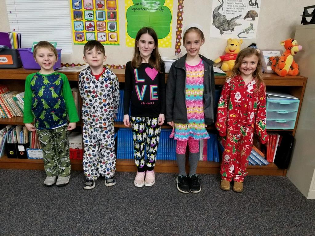 1st grade in pajamas