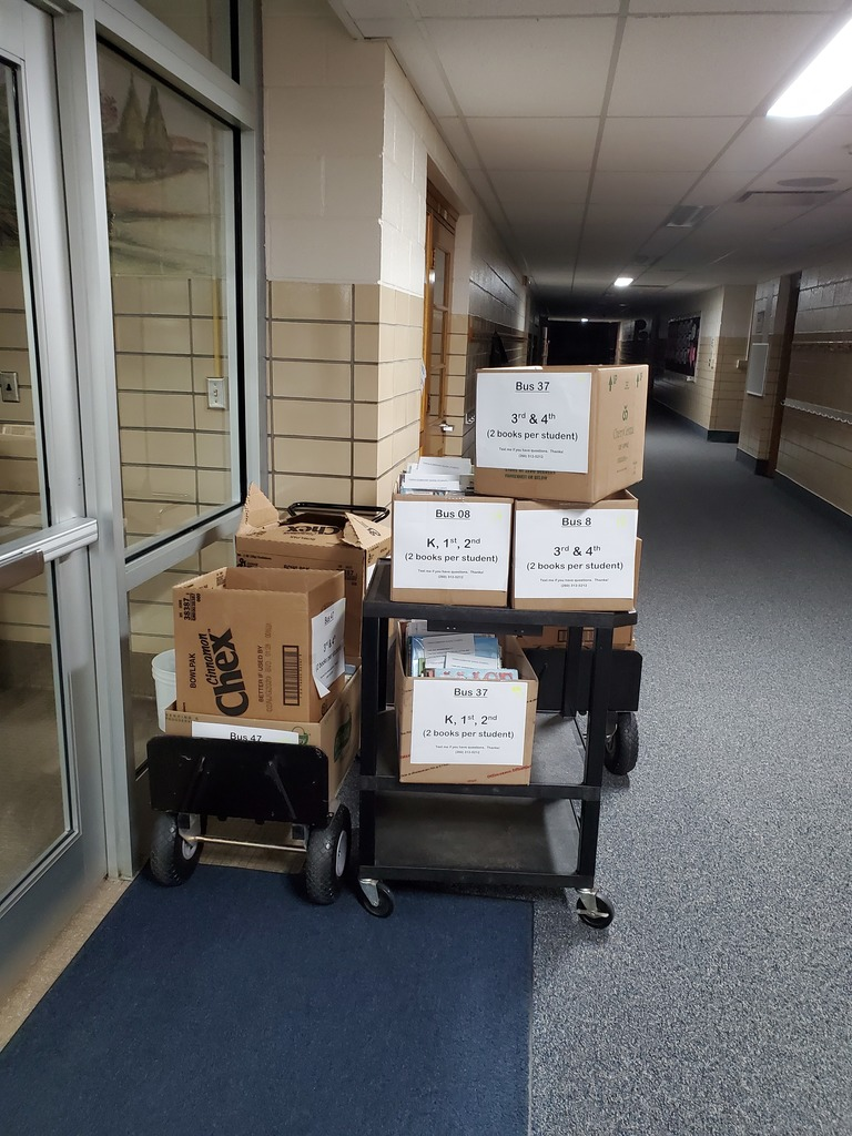 Organized boxes to load on buses