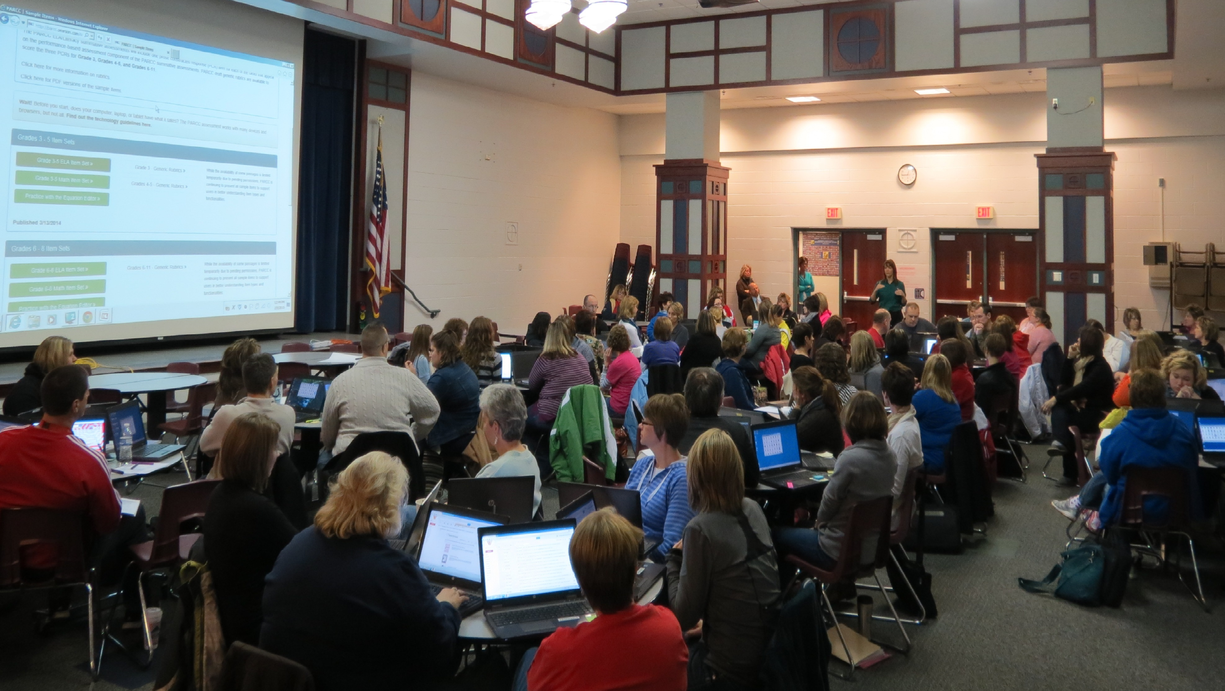 Elementary teachers on Professional Development Day